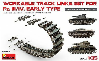 MiniArt #35235, 1/35 ~ WORKABLE TRACK LINKS SET FOR Pz.III / Pz.IV Early  type