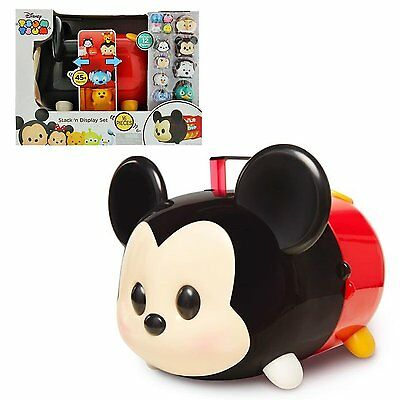 NEW Disney Tsum Tsum Mickey Mouse Stack N Display Set Carrying Case 16 Pieces