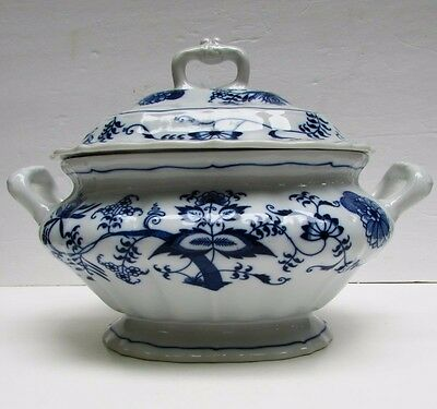 Blue Danube Onion Covered Soup Tureen Banner Mark