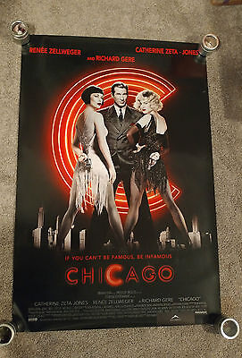 Chicago (2002) Original One Sheet Movie Poster 27x40 SS Richard Gere
