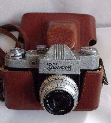 Rare Camera KRISTALL Crystal Rare Russian SLR Camera With Original Leather Case