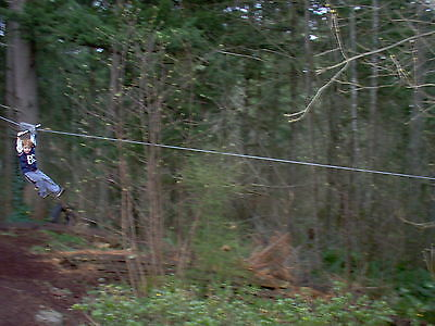 Zip Line 100' Kit, Trolley, Cable Ride, High Quality Zipline, 10th Year on Ebay!