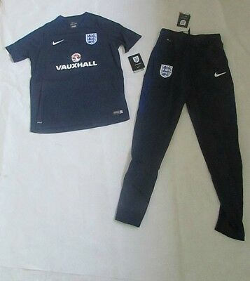 Nike England Boys Training Set T-Shirt And Track Pants Bnwt Reduced To Clear