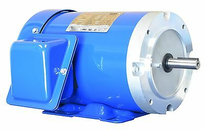 1 HP Electric Motor 56C Frame 3 Phase TEFC 208-230/460 3600 RPM Rolled Steel