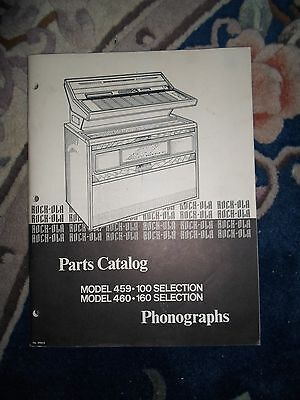 Rockola model 459/100 460/160 selection parts Manual  Original