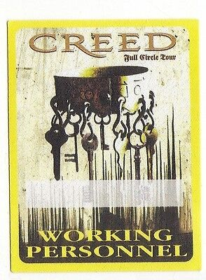CREED backstage pass tour SATIN cloth OTTO WORKING full circle