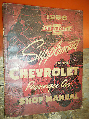 1956 Chevy Nomad Biscayne Bel Air Impala Factory Service Manual Supplement