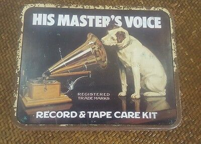HIS MASTERS VOICE  record & tape care kit