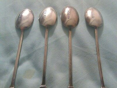Antique 4 M&W sterling silver hallmarked UK spoons
