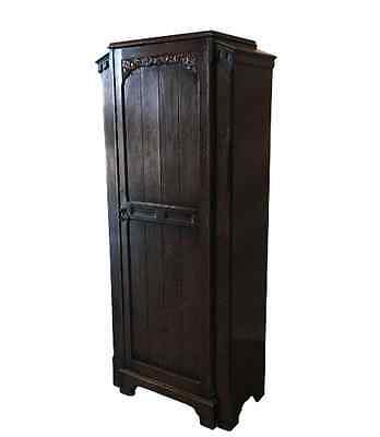English Antique Single Door Gentleman's Armoire Wardrobe