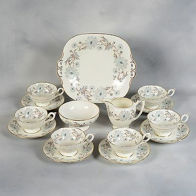 "Coalport ""my Fair Lady"" Tea/coffee Set - 6 Cups & Saucers, Cream & Sugar, Plate"