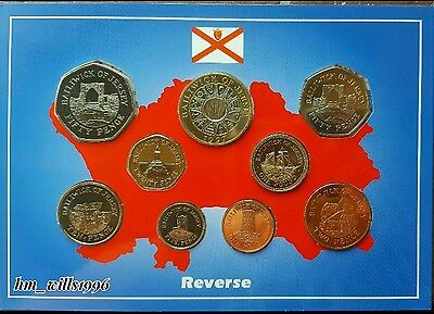1997 Bailwick Of Jersey Coin Set Royal Mint Pack Including Rare £2 BU