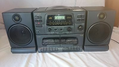 Optimus Radio Shack CD-8023 Radio CD Player & Twin Cassette Deck