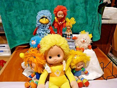 Vintage Lot of 9 RAINBOW BRITE Dolls  Hallmark Mattel