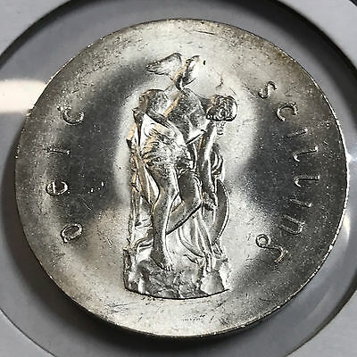Ireland 1966 Silver 10 Shillings Brilliant Uncirculated Easter Uprising Coin