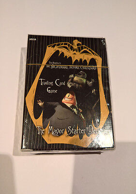 Nightmare Before Christmas Trading Card Game Starter Deck Mayor NEW SEALED RARE