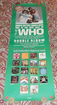 The Who - Who's Better, Who's Best?  Mca Records Promo Poster!  Look!