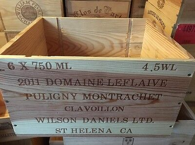 Wine Box Case Crate 6 Bottle French Domaine LeFlaive Puligny Montrachet