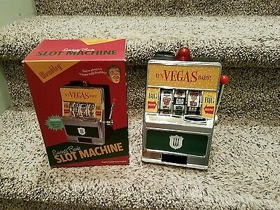 Wembley Casino and Lounge Toy Slot Machine Bank Its Vegas Baby!  lights & sounds