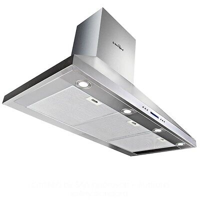 NEW 500W 5 Star Chef Commercial 3 Fan Speed Kitchen Rangehood 120cm - Silver
