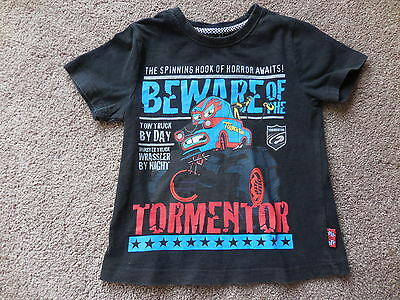 Boys Cars Tee Shirt - Tormentor - Size 3 - Cotton - Very Good Condition