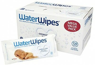 WaterWipes Chemical Free Baby Wipes, Natural and Sensitive 12 X 60 (720 Wipes)