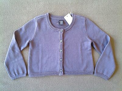 NWT BABY GAP Girls Solid Cardigan Sweater Size 18-24 Months ~ Quiet Blue