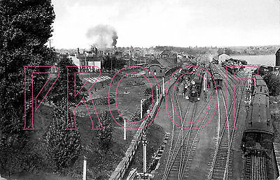 Grand Trunk Railroad (GT) early 1900s view of the Hamilton Yards - 8x10 Photo