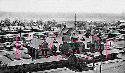 Canadian National Railways (CNR) Station at Moncton, NB - 8x10 Photo