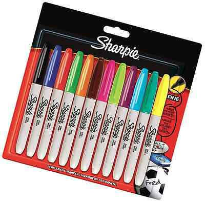 Sharpie Fine Point Permanent Marker - Assorted Colours, Pack of 12