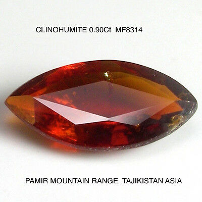 CLINOHUMITE RARE GEMSTONE 0.90Ct  MF8314 NATURAL MINED UNTREATED