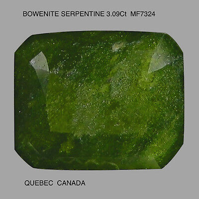 BOWENITE SERPENTINE NATURAL MINED UNTREATED 3.09Ct  MF7324