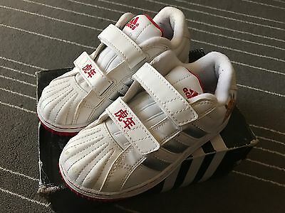 Kids Size 10 Adidas White Trainers New $59