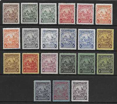 Barbados Sg 229/39  1925/35 Set Complete  All Perf & Shade Varieties  Fresh Mint