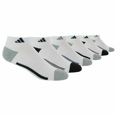 Adidas Men's Climalite Low Cut 6-pair Socks SELECT COLOR / SIZE **NEW**