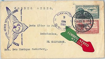 58636 - MEXICO - POSTAL HISTORY: AIRMAIL COVER to EL SALVADOR 1930 - MULLER # 53