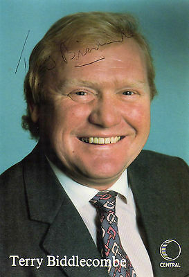 Terry Biddlecombe- Signed - Photo Card - Rare