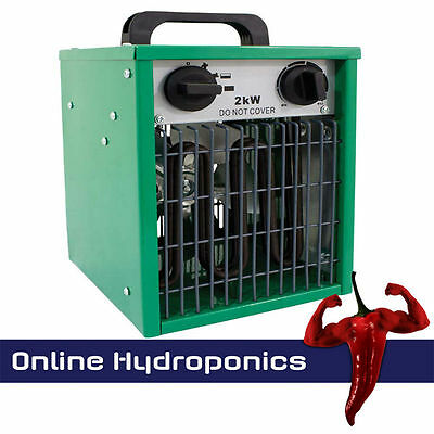 2KW Greenhouse Heater With Built in Thermostat Hydroponics