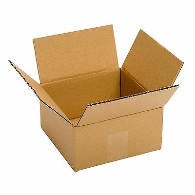 Small Cardboard Boxes 25 Pack 6x6x4'' Packing Shipping Mailing Delivery Supply