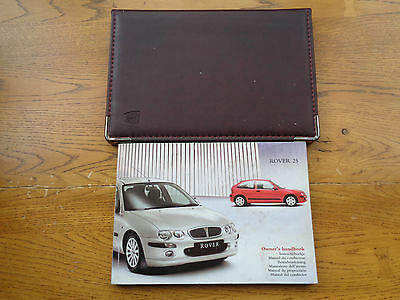 Rover 25 Owners Handbook/Manual and Wallet 99-04