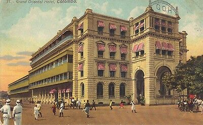Old Vintage Postcard Of The Grand Oriental Hotel Colombo