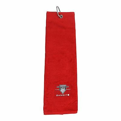 Golf Towel Bandito Trifold Bag Towel Black Red White Blue