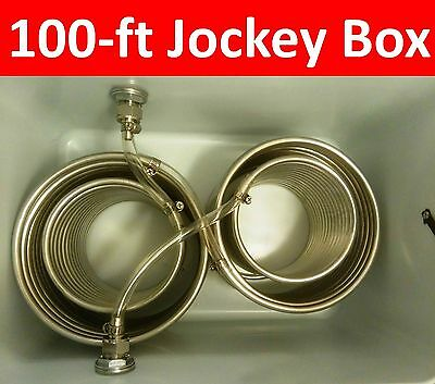 100-ft Jockey Box One Tap Stainless Steel Coil 35-Qt Box FREE SHIPPING DBX1100