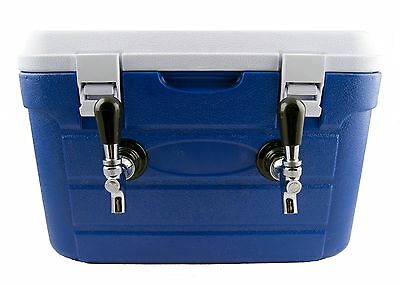 Draft Box Beer Kegerator Two Tap 2x50-ft Stainless Steel Coils DBX250 FREE SHIP