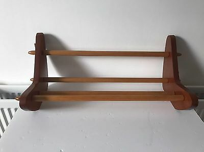 VINTAGE MID CENTURY BOOK REST shelf trough bookcase retro teak