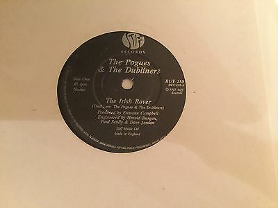The Pogues & The Dubliners- The Irish Rover - Stiff BUY258 1987 - VG Cond