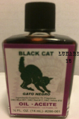 Black Cat, Oil, Indio Products, 1/2 oz, Anointing, Aromatherapy, Ritual, Spells