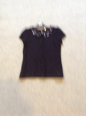 M&S Girls Lacy Top Age 8/9 New