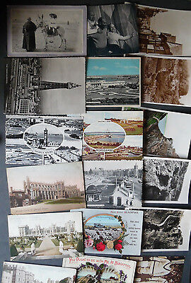 JOB LOT of over 80 english Postcards 1900's to 1970's posted and unposted