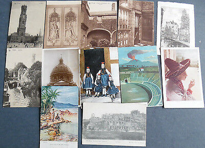 JOB LOT of over 60 international Postcards 1900's to 1960's posted and unposted